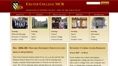 Screenshot of www.exetermcr.com